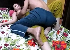 Sonia delhi desi teen couple doing some co-conspirator normal job