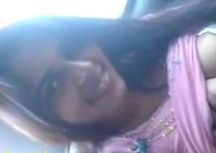 Indian sex mms of pulchritudinous steady old-fashioned blowjob in car
