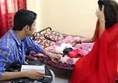 indian bhabhi screwed in red saree